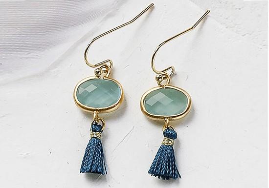 Boucles d'oreilles Sabina turquoise