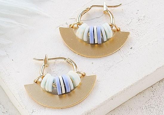 Boucles d'oreilles Valeria bleue