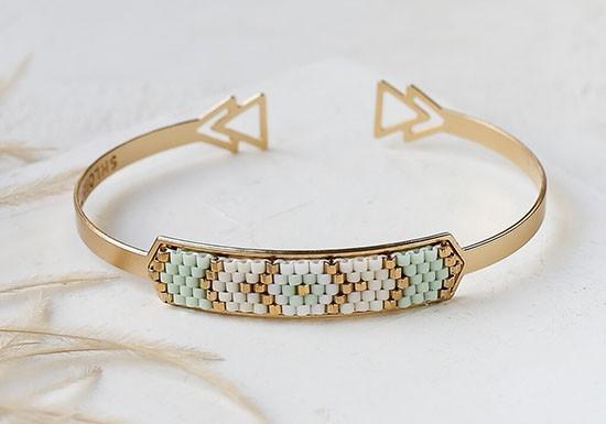 Bracelet Indie Cuff bleu ciel