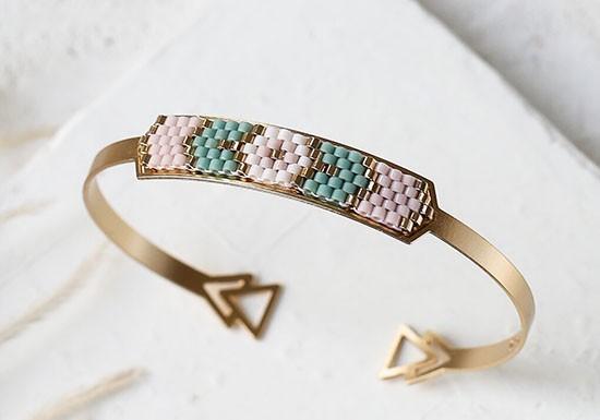 Bracelet Indie Cuff vert