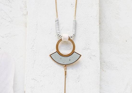 Collier Amalia bleu / gris