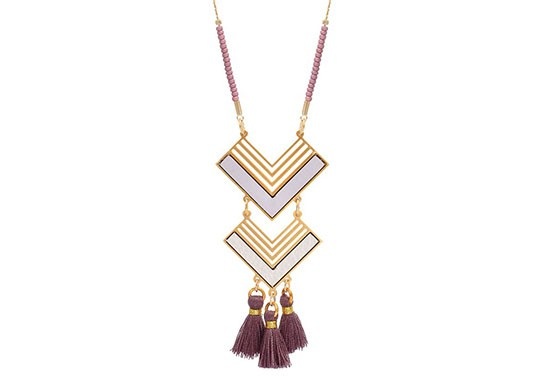 Collier Ethnic violet