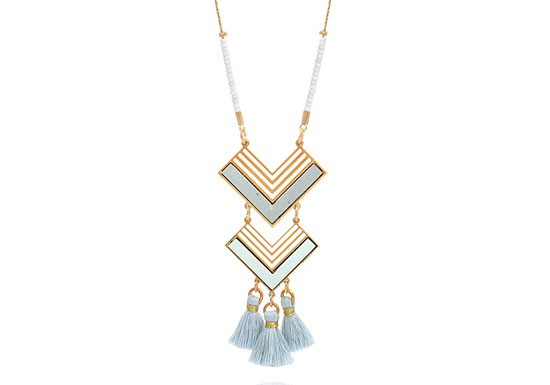 Collier Ethnic bleu