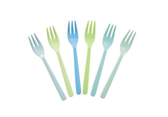 Lot de 6 fourchettes Bleus et Verts