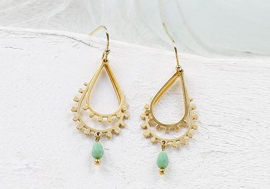 Boucles d'oreilles Paisley turquoise