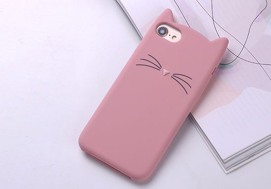 Coque silicone Chat Rose