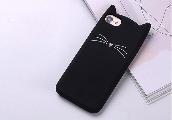 Coque silicone Chat noir