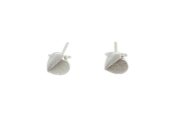 Boucles d'oreilles Coeur argenté