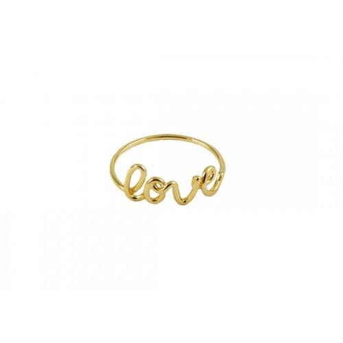 Bague Love (doré ou argenté)