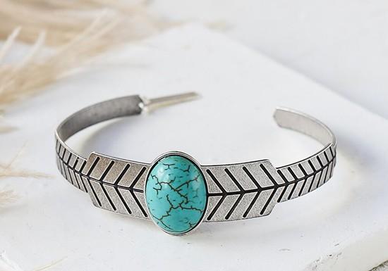 Bracelet Folk argenté