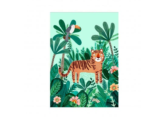 Carte postale Tiger and Toucan