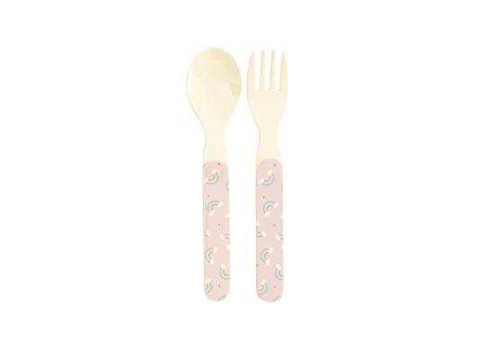 Set cuillère et fourchette Rainbow