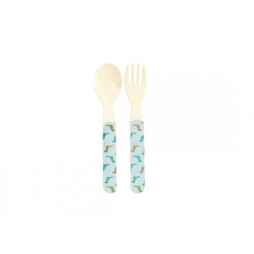 Set cuillère et fourchette Dino