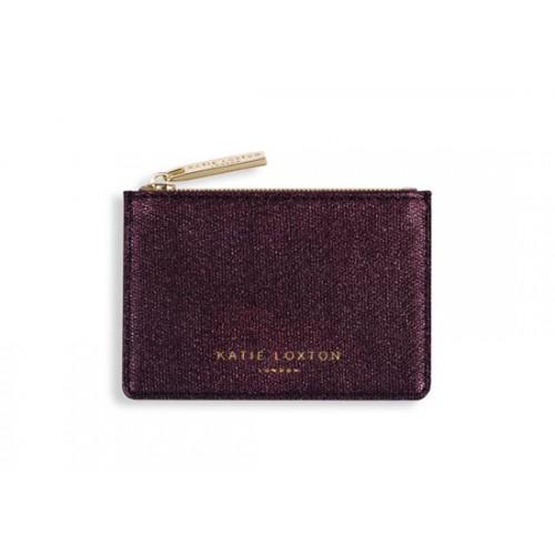 Porte carte burgundy
