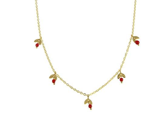 Collier Adèle rouge