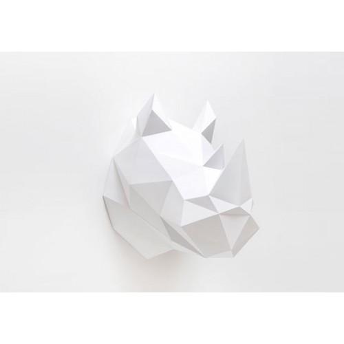 Trophée rhino blanc