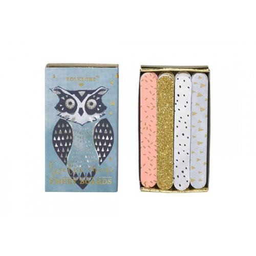 Set de mini limes à ongles - Owl