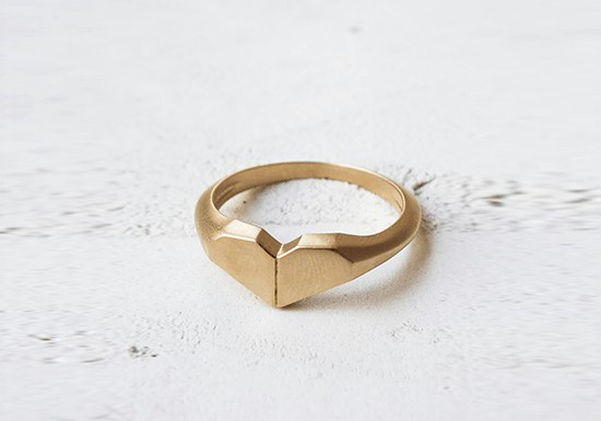 Bague Origami Heart