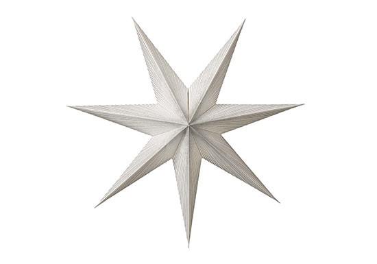 Etoile papier Sunshine silver 60 cm