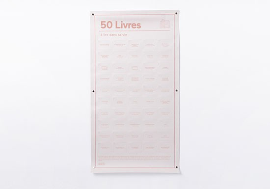Poster 50 Livres à lire dans sa vie