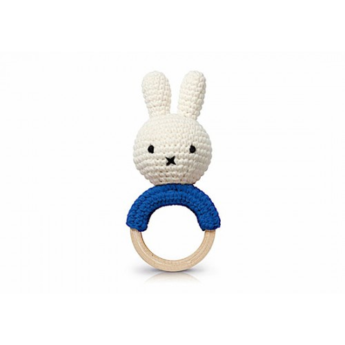 Hochet dentition Miffy bleu