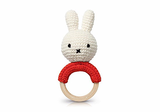 Hochet dentition Miffy rouge