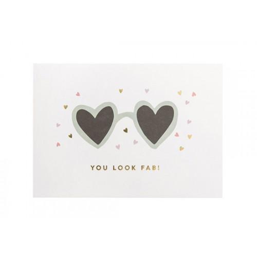 Carte lunettes Cœur
