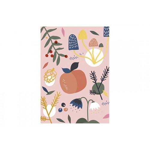 Carte Pomme et Fleurs