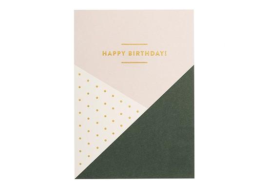 Carte Happy Birthday géométrique