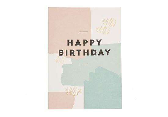 Carte Happy Birthday peinture