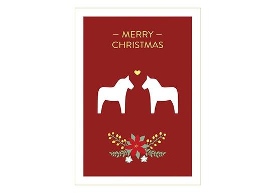 Carte Merry Christmas Dala