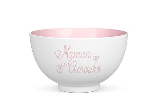 """Bol en porcelaine """"Maman d'amour"""""""