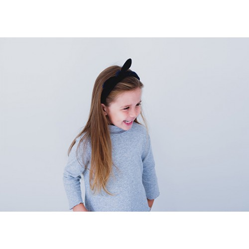 Serre tête Ivy bow velours