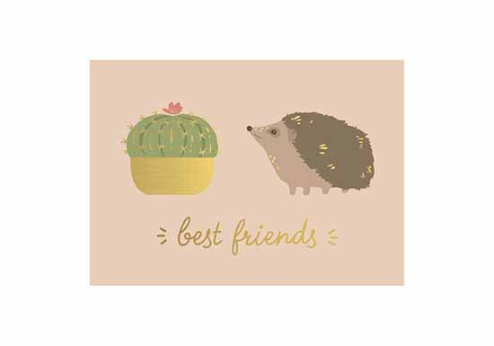 Carte Best Friends Hérisson