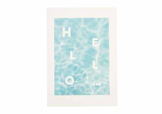 Carte HELLO water