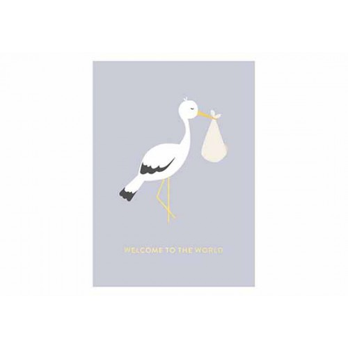 Carte Naissance cigogne