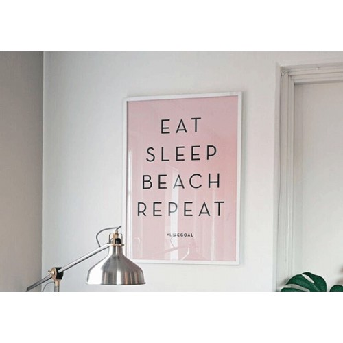 Poster Eat, sleep, beach, repeat