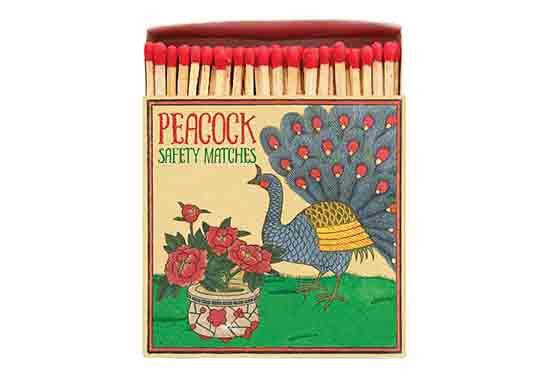 Grande boite d'allumettes - Peacock