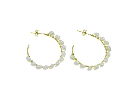 Boucles d'oreilles Calypso perle