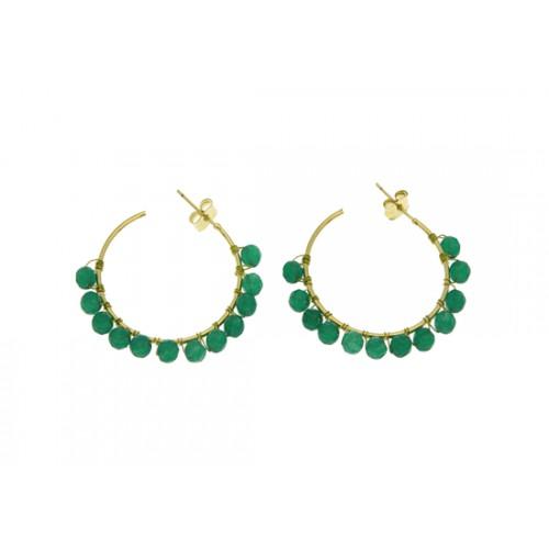 Boucles d'oreilles Calypso vert