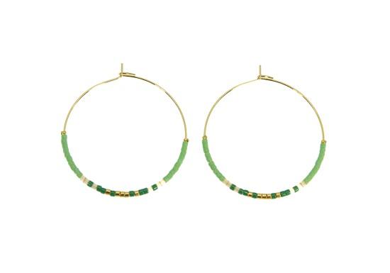 Boucles d'oreilles Maika vert
