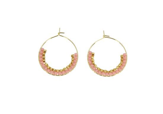 Boucles d'oreilles Artémis rose