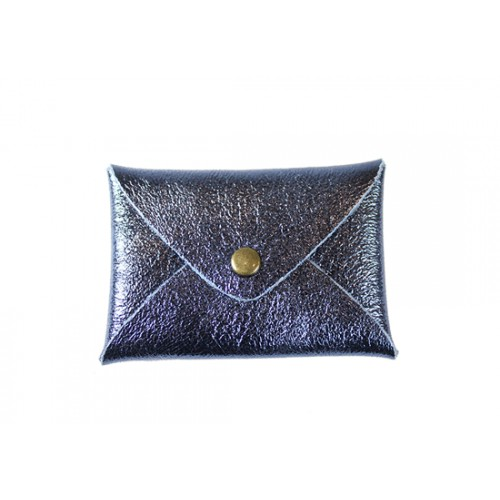 Pochette Cassandre - Bleu gris shine