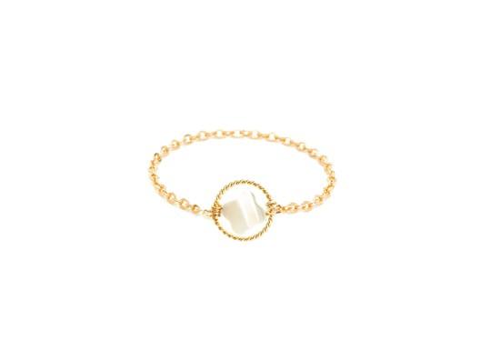 Bague Chaînette White swan - petite étoile