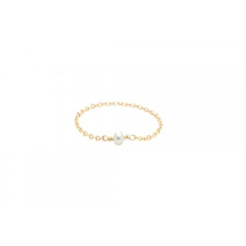 Bague Stella - Perle de culture blanche