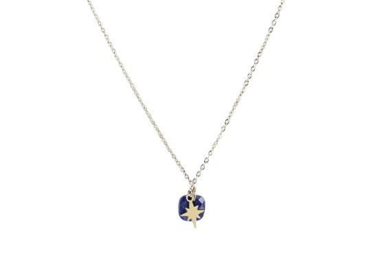 Collier Star - lapis lazuli