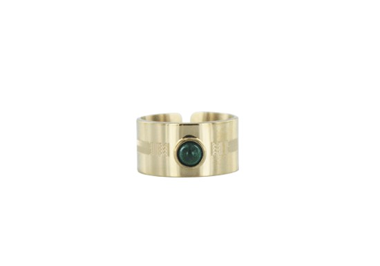 Bague manchette Salma - malachite