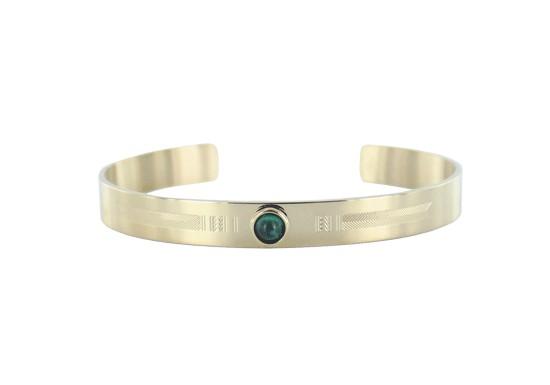 Bracelet manchette Salma - malachite
