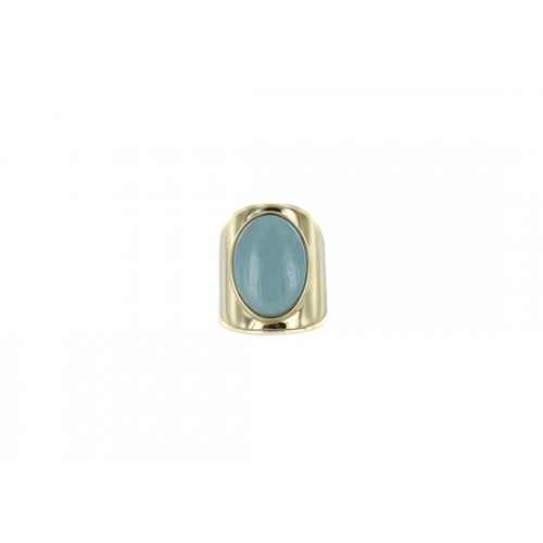 Bague manchette Gabriela - amazonite