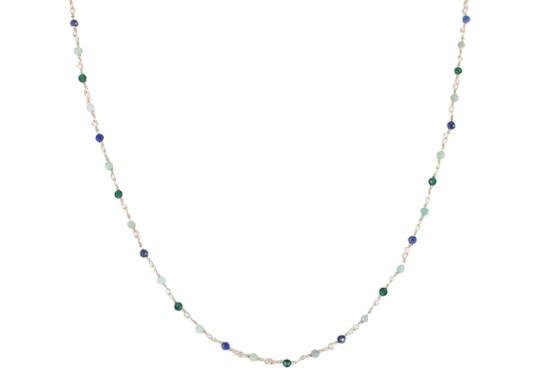 Collier Gabriela - malachite, amazonite et lapis lazuli